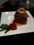 Cinnamon Caramel Waffle Stack